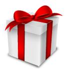 Sfondo pacchi regalo natale